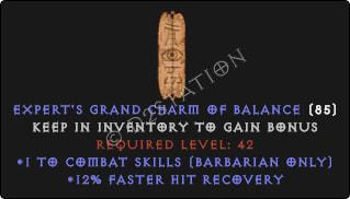 Barbarian Combat Skills w/ 12% FHR GC