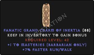 Barbarian Masteries Skills w/ 7% FRW GC