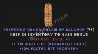 Barbarian Warcries Skills w/ 12% FHR GC