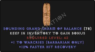 Barbarian Warcries Skills w/ 12% FHR GC