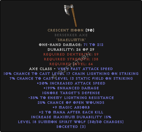 Crescent Moon Berserker Axe - Perfect