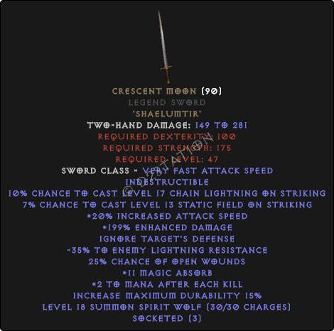 Crescent Moon Legend Sword - Perfect