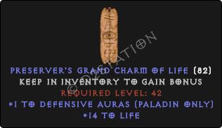 Paladin Defensive Auras w/ 10-20 Life GC