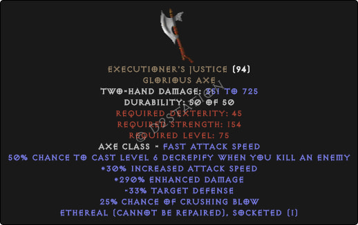 Executioner's Justice - Ethereal - 270%+ ED