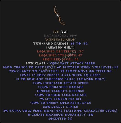 Harmony Matriarchal Bow - 3 B&C - Perfect