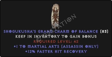 Assassin Martial Arts Skills w/ 12% FHR GC