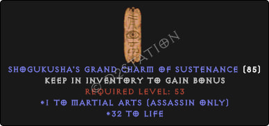 Assassin Martial Arts Skills w/ 31-34 Life GC
