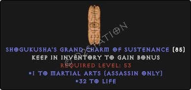 Assassin Martial Arts Skills w/ 31-34 Life GC