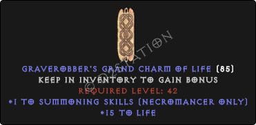 Necromancer Summoning Skills w/ 10-20 Life GC