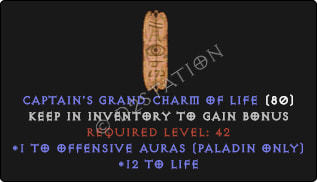 Paladin Offensive Auras w/ 10-20 Life GC