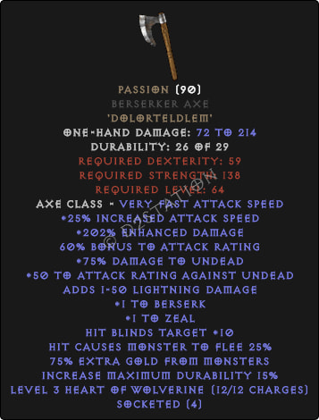 Passion Berserker Axe - Perfect