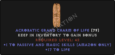 Amazon Passive & Magic Skills w/ 10-20 Life GC