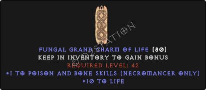 Necromancer Poison And Bone Skills w/ 10-20 Life GC