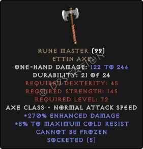 Rune Master - 250%+ ED | 5 Sockets