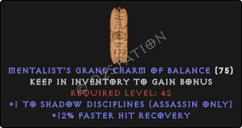 Assassin Shadow Disciplines Skills w/ 12% FHR GC