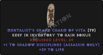 Assassin Shadow Disciplines Skills w/ 36-39 Life GC