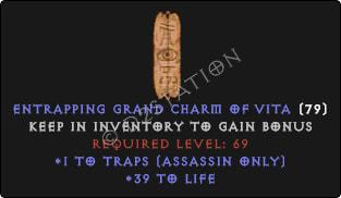 Assassin Traps Skills w/ 36-39 Life GC