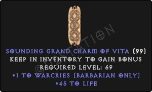 Barbarian Warcries Skills w/ 45 Life GC