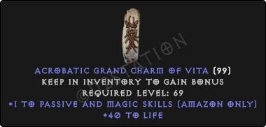 Amazon Passive & Magic Skills w/ 40-44 Life GC