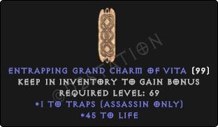 Assassin Traps Skills w/ 45 Life GC