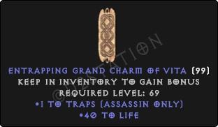 Assassin Traps Skills w/ 40-44 Life GC