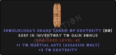 Assassin Martial Arts Skills w/ 3-5 Dex GC