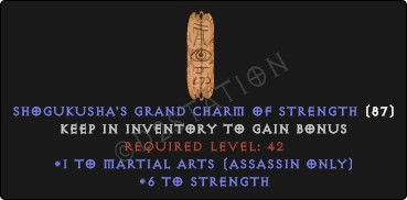 Assassin Martial Arts Skills w/ 6 Str GC
