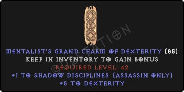Assassin Shadow Disciplines Skills w/ 3-5 Dex GC