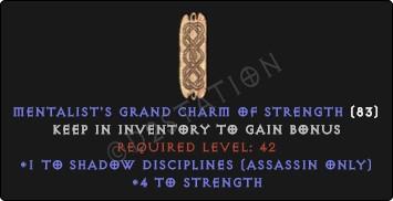 Assassin Shadow Disciplines Skills w/ 3-5 Str GC