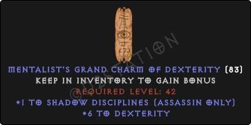 Assassin Shadow Disciplines Skills w/ 6 Dex GC