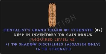 Assassin Shadow Disciplines Skills w/ 6 Str GC