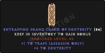 Assassin Traps Skills w/ 6 Dex GC