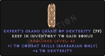 Barbarian Combat Skills w/ 3-5 Dex GC