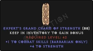 Barbarian Combat Skills w/ 3-5 Str GC