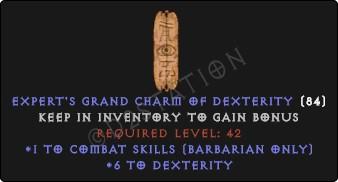 Barbarian Combat Skills w/ 6 Dex GC