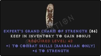 Barbarian Combat Skills w/ 6 Str GC