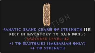 Barbarian Masteries Skills w/ 3-5 Str GC