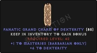 Barbarian Masteries Skills w/ 6 Dex GC