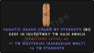 Barbarian Masteries Skills w/ 6 Str GC