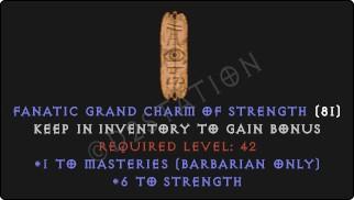 Barbarian Masteries Skills w/ 6 Str GC