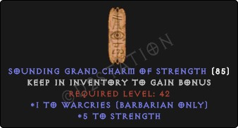 Barbarian Warcries Skills w/ 3-5 Str GC