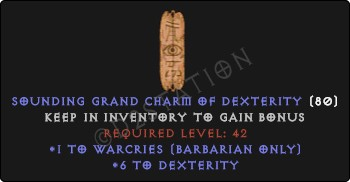 Barbarian Warcries Skills w/ 6 Dex GC
