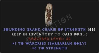 Barbarian Warcries Skills w/ 6 Str GC
