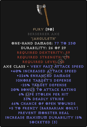 Fury Berserker Axe