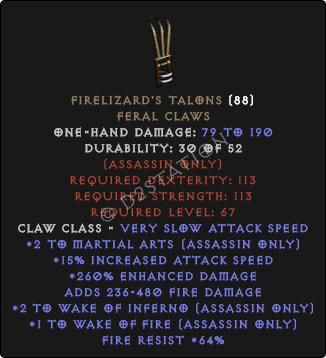 Firelizards-Talons